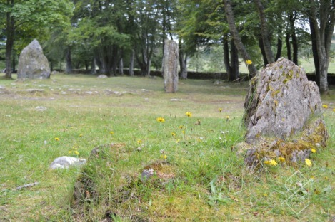 Standing stones, Clava Cairns, Inverness greater area, Scotland