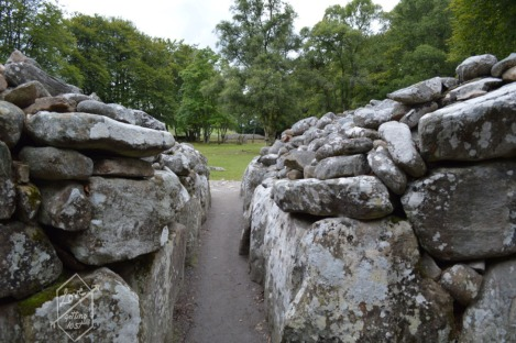 View from inside Clava Cairns, Inverness greater area, Scotland