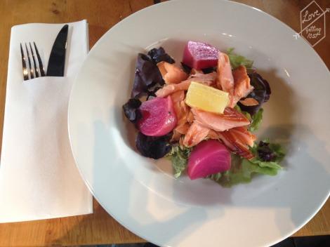 Salmon salad, Malt Bard Restaurant, Glenfiddich Distillery, Dufftown, Scotland
