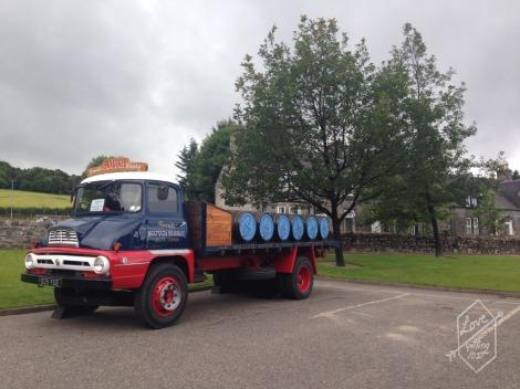 Delivery Truck, Glenfiddich Distillery, Dufftown, Scotland