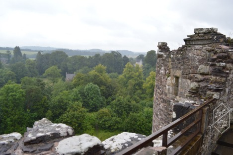 Roof top view, Doune Castle, Doune, Scotland