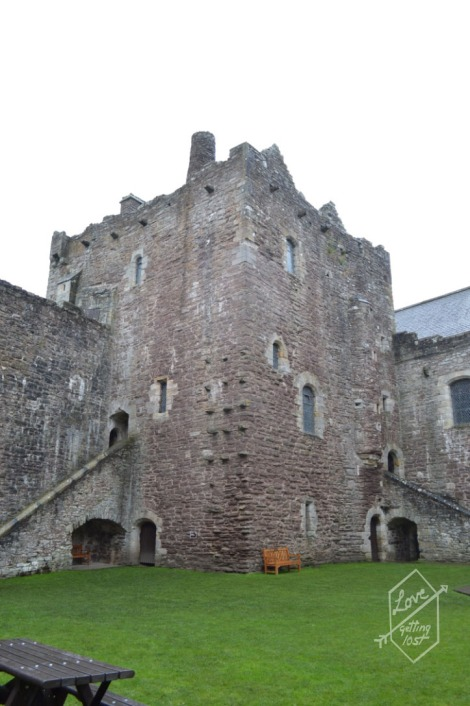 Inside tower and court yard, Doune Castle, Doune, Scotland