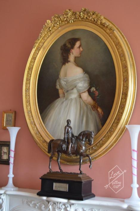 Portrait in the Victoria Room, Inveraray Castle, Inveraray, Scotland
