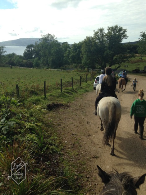 Horse riding, Lunga Stables, Lunga Estate, Argyll, Scotland